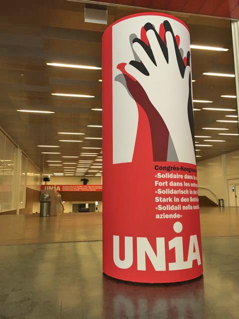 Litfass-Säule UNIA Kongress Palexpo