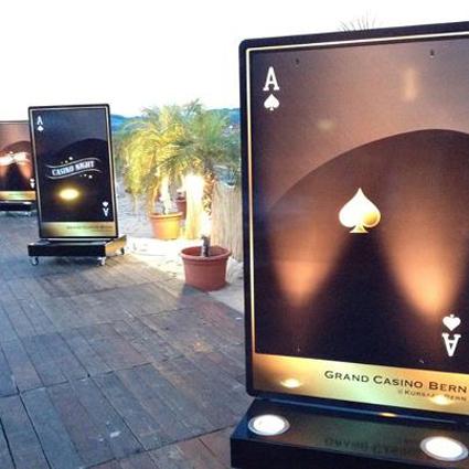 Mobile Stelen Grand Casino Kursaal am City Beach Bern - Agentur BOLD Werbung