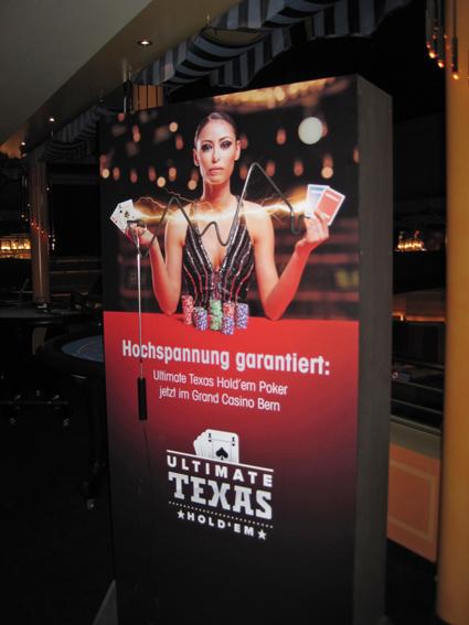 """Spieldisplay """"Der heisse Draht"""" Grand Casino Bern"""