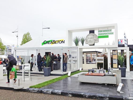 Messestand Creabeton an der BEA, für sta Projekte. Produktion und Montage mit holzinform