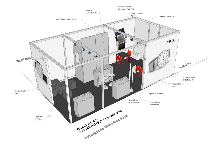 CAD Visual für unseren Kunden a.b.art an der INHORGENTA München