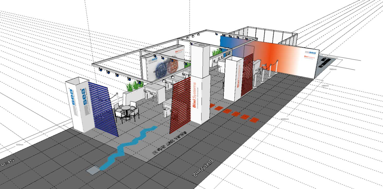 CAD Visual für dem 200m2 Stand SEA/BIXI 2015/2016